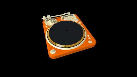 Music equipment - Turntable Stock Video Footage