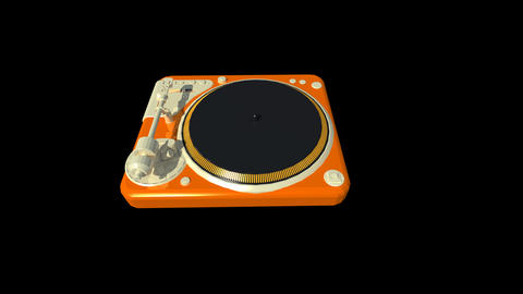 Music equipment - Turntable Animation