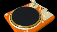 Music Equipment - Turntable stock footage