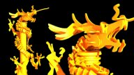 Golden Dragon Pillar stock footage