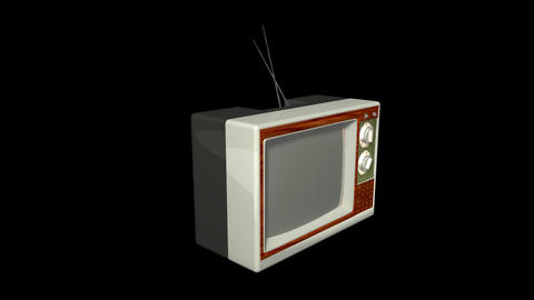 Antique TV Stock Video Footage