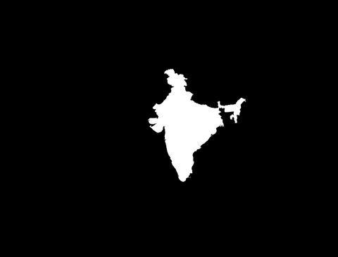 Globe Set1 - India Matte Stock Video Footage