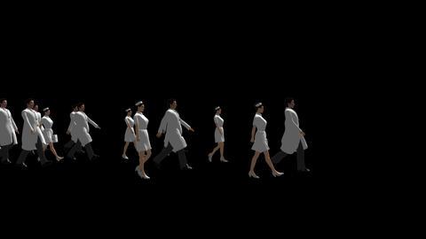 People Walking - Bioscience Stock Video Footage