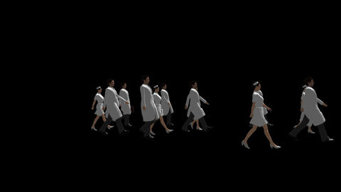 People Walking - Bioscience Animation