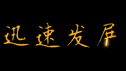 Chinese Word Rapid Growth Stock Video Footage