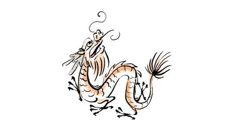 Zodiac Dragon Stock Video Footage