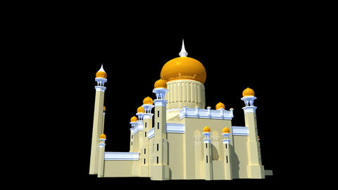 Brunei - Sultan Omar Ali Saifuddien Mosque Stock Video Footage