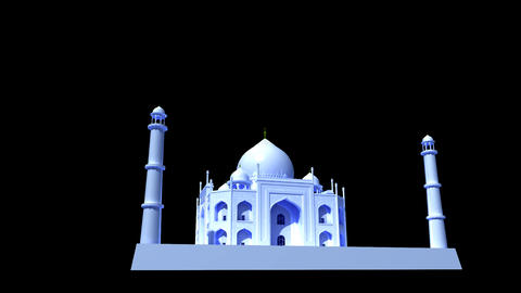 India - Taj Mahal Animation