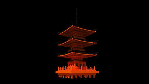 Japan - Kyoto - Kyomizudera Shrine Stock Video Footage