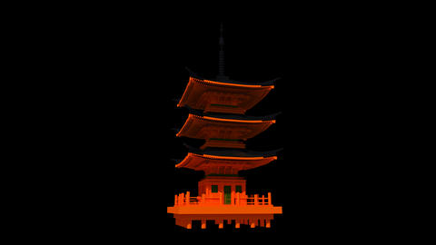 Japan - Kyoto - Kyomizudera Shrine Animation