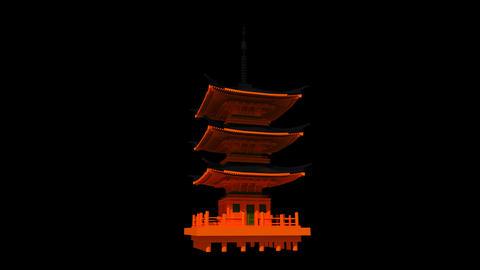 Japan - Kyoto - Kyomizudera Shrine Animation