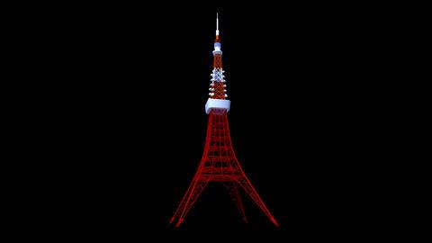 Japan - Tokyo - Tokyo Tower Animation