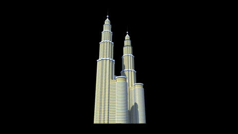 Malaysia - Petronas Twin Towers Stock Video Footage