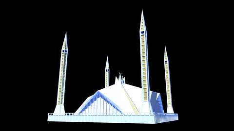 Pakistan - Faisal Mosque Stock Video Footage