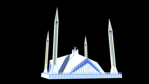 Pakistan - Faisal Mosque Animation