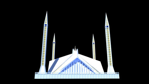 Pakistan - Faisal Mosque Stock Video Footage