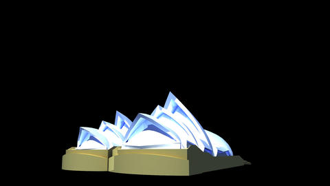 Australia - Sydney Opera House Stock Video Footage