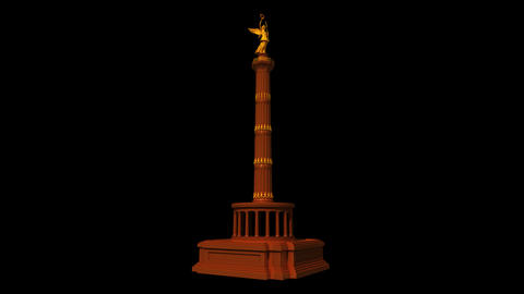 Germany - Berlin Victory Column Stock Video Footage