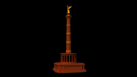 Germany - Berlin Victory Column Animation