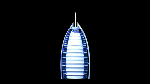 UAE - Burj AL Arab Stock Video Footage
