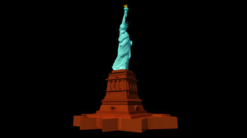 USA - Statue of Liberty, Stock Animation