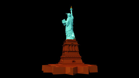 USA - Statue of Liberty Animation