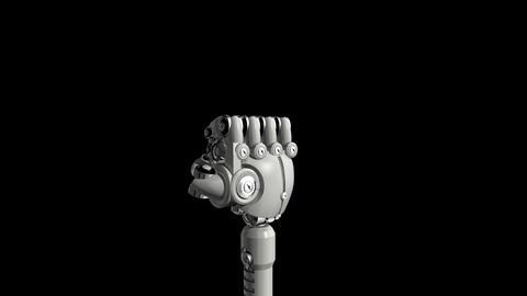 robotic_hand-in Stock Video Footage