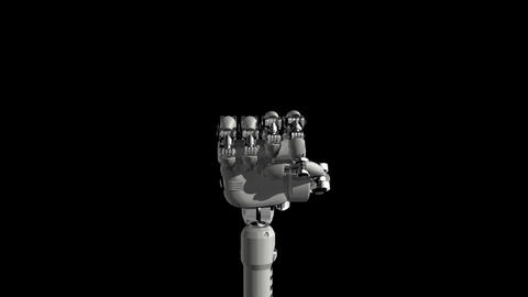 Robotic Hand No2 Stock Video Footage