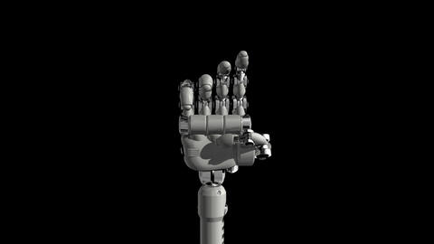 Robotic Hand No4 Stock Video Footage