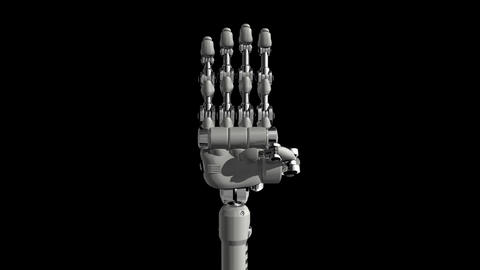 Robotic Hand No4 Stock Video Footage