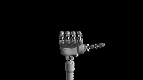 Robotic Hand No6 Stock Video Footage