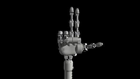 Robotic Hand No8 Stock Video Footage