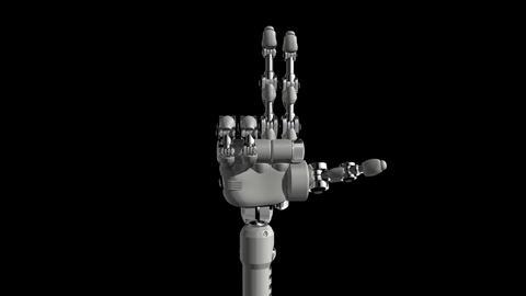 Robotic Hand No8 Stock Video Footage