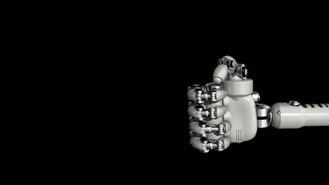 Robotic Hand Good Stock Video Footage
