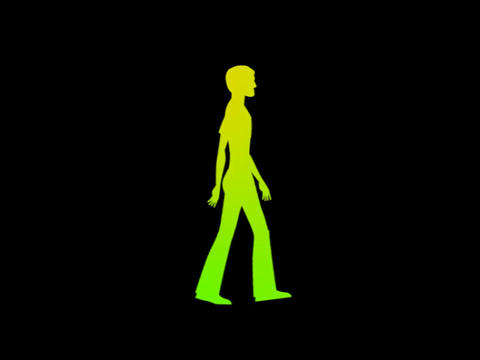 Silouette - Teenager Walk Animation