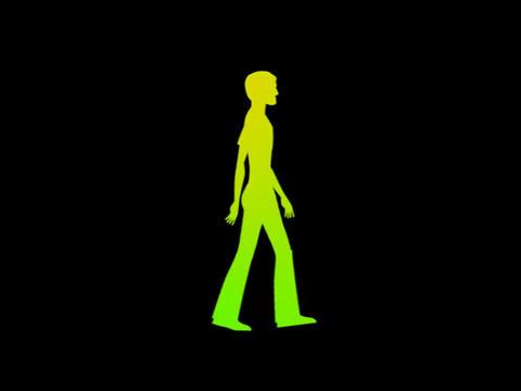 Silouette - Teenager Walk Stock Video Footage
