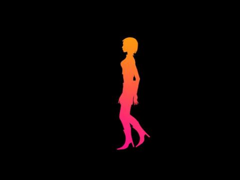 Silouette - Woman Run Stock Video Footage