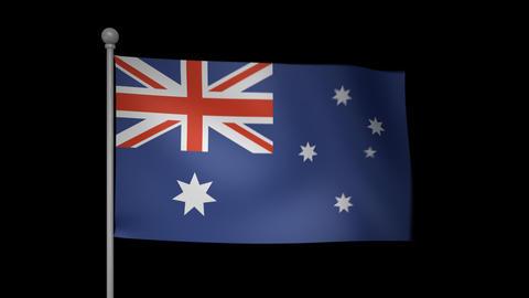 Australia Flag Stock Video Footage