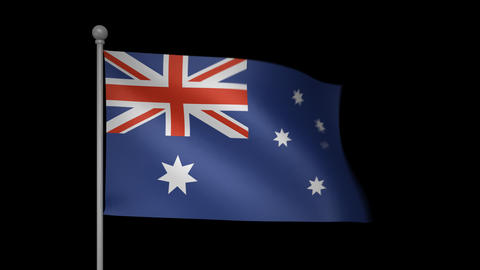 Australia Flag Stock Video Footage