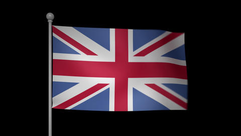 UK Flag Stock Video Footage