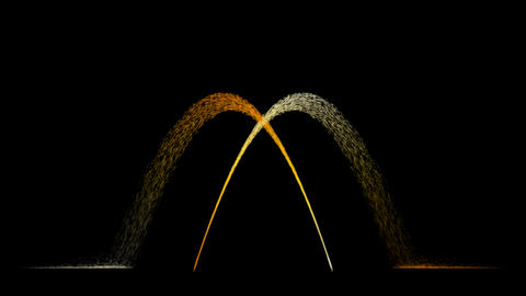 Water Fountain One Pair Overlapping Stock Video Footage