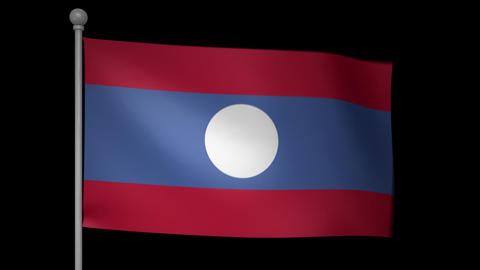 Laos Flag Animation