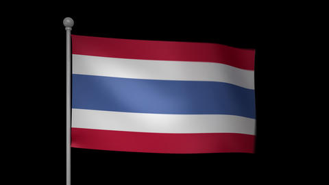 Thailand Flag Stock Video Footage