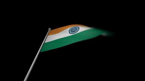 India Flag Stock Video Footage
