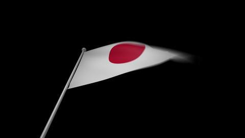 Japan Flag Stock Video Footage