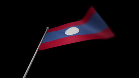 Laos Flag Animation