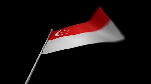 Singapore Flag Animation