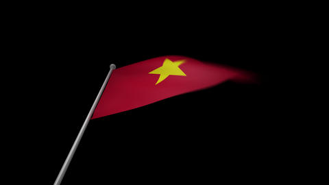 Vietnam Flag Stock Video Footage