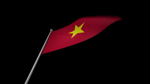Vietnam Flag Stock Video Footage