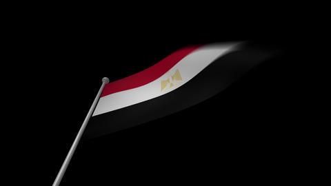 Egypt Flag Stock Video Footage